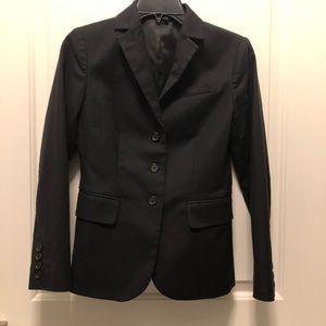 Gap Boyfriend Style Black Cotton Blend Blazer 0